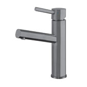 Waterhaus Lead-Free Solid Stainless Steel Single lever Elevated Lavatory Faucet In Gunmetal, 2-3/8''W x 6-1/2''D x 12-1/4''H