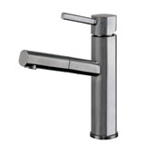 Waterhaus Lead-Free Solid Stainless Steel, Single Hole, Single Lever Kitchen Faucet with Pull-out Spray Head In Gunmetal, 2-1/4''W x 7-1/2''D x 10-1/2''H