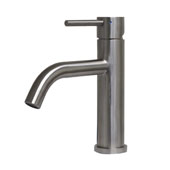 , Waterhaus Solid Stainless Steel, Single lever Elevated Lavatory Faucet, Brushed Stainless Steel, 8-1/2'' H
