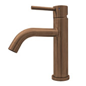 Waterhaus Lead-Free Solid Stainless Steel Single lever Elevated Lavatory Faucet In Copper, 2''W x 6-1/2''D x 8-1/2''H