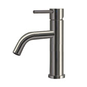 , Waterhaus Solid Stainless Steel, Single lever Elevated Lavatory Faucet, Polished Stainless Steel, 8-1/2'' H