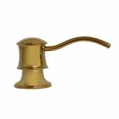 Solid Brass Soap/Lotion Dispenser In Polished Brass, Spout Reach: 3-1/2''