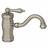 - Single Hole/Single Lever Faucet, Polished Chrome (Shown in Pewter)