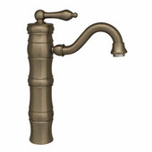 - Single Hole Elevated Faucet, Brushed Nickel (Shown in Oil Rubbed Bronze)