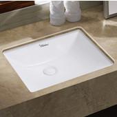 Isabella Plus Collection 20-3/4'' W Rectangular Undermount basin w/ Overflow & Rear Center Drain, White