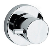 Luxe Round Volume Control with Lever Handle in Brushed Nickel (Shown in Polished Chrome)