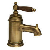 The Pump Single Hole/Lever Bathroom Faucet with Cherry Wood Handle in Old Bronze  (Shown in Pewter)