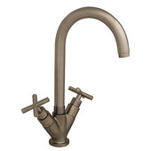 Single Hole Luxe Kitchen Faucet w/ Brushed Nickel Finish