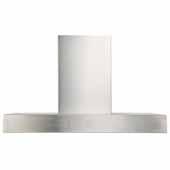Contemporary Slim Baffle Series Wall Mount Range Hood, 675 CFM, 42'' Width
