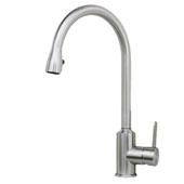 Cario 16'' Stainless Steel Pull-Down Kitchen Faucet, 2-1/4'' W x 10-1/2'' D x 15-22/25'' H
