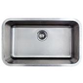 30'' Undermount Single Bowl 16-Gauge Stainless Steel Kitchen Sink, 29-7/8'' W x 18-1/16'' D x 9'' H