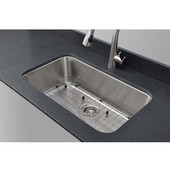 Wells Sinkware 18 Gauge Single-Bowl Undermount Stainless Steel Sink Matte Finish, Package Includes Protection Grid and Strainer, 29 7/8''W x 18-1/16''D x 9''H