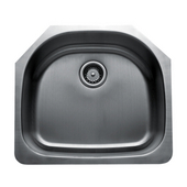 Craftsmen Series Stainless Steel Single Bowl Undermount Sink, 23-1/2''W x 21''D x 9''H