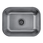 Craftsmen Series Stainless Steel Single Bowl Undermount Sink, 18 Gauge, 23''W x 17-3/4''D x 9''H