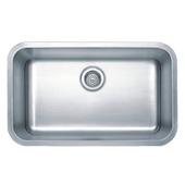 Wells Sinkware Wentworth Craftsman Series Single Bowl Undermount Sink, 29-7/8W x 18-1/16D x 9H