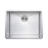 23'' Undermount Single Bowl 16-Gauge Stainless Steel Kitchen Sink, 23'' W x 18'' D x 10'' H