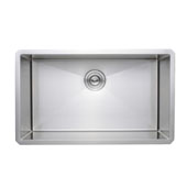 30'' Undermount Single Bowl 16-Gauge Stainless Steel Kitchen Sink, 30'' W x 18'' D x 10'' H