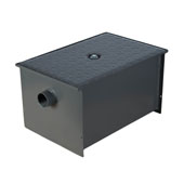 Wentworth Floor Mount 11 Gauge Carbon Steel Grease Trap in 20 lbs. / 10 GPM Capacity