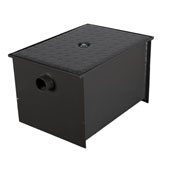 Wentworth Floor Mount 11 Gauge Carbon Steel Grease Trap in 30 lbs. / 15 GPM Capacity