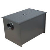 Wentworth Floor Mount 11 Gauge Carbon Steel Grease Trap in 40 lbs. / 20 GPM Capacity