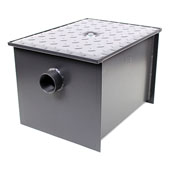 Wentworth Floor Mount 11 Gauge Carbon Steel Grease Trap in 50 lbs. / 25 GPM Capacity