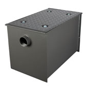 Wentworth Floor Mount 11 Gauge Carbon Steel Grease Trap in 70 lbs. / 35 GPM Capacity