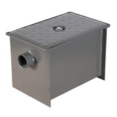 Wentworth Floor Mount 11 Gauge Carbon Steel Grease Trap in 8 lbs. / 4 GPM Capacity