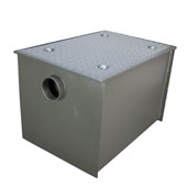 Wentworth Floor Mount 11 Gauge Carbon Steel Grease Trap in 100 lbs. / 50 GPM Capacity