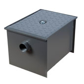 Wentworth Floor Mount 11 Gauge Carbon Steel Grease Trap in 14 lbs. / 7 GPM Capacity