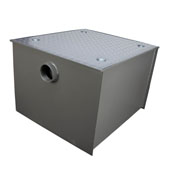Wentworth Floor Mount 11 Gauge Carbon Steel Grease Trap in 150 lbs. / 75 GPM Capacity