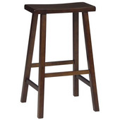 29'' Saddle Seat Bar Stool in Walnut Finish