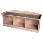 51-1/2'' W x 15-1/2'' D x 21-1/3'' H Bench with Storage, Unfinished