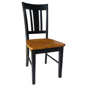 17'' W x 22'' D x 37.75'' H San Remo Slat Back Chair, Black / Cherry