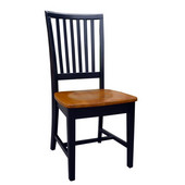 Mission Side Chair in Black / Cherry