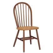 Windsor 37'' Spindleback Chair, Cinnamon/Espresso