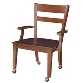 , Espresso Arm Chair w/ Matching Desks, 24-7/16''W x 22-1/4''D x 35-7/16''H