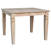 Java Butterfly Leaf dining Table - 18'' Leaf, 60''W x 40''D x 30''H