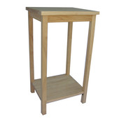 Tall Unfinished Accent Table
