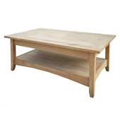 Bombay Tall Coffee Table w/ Lift Top, Unfinished