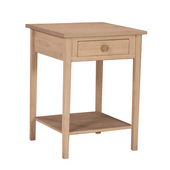 Hampton Bedside Table, Unfinished