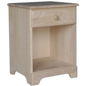 Night Stand, Unfinished, 18-7/8''W x 17-1/8''D x 25-3/4''H