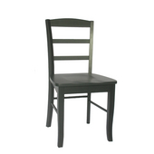 Madrid Ladderback Chair, Black, Sold as Pair