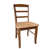 solid wood ladderback chair in Cinnamon