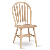 Arrowback Chair - Plain Legs, Unfinished