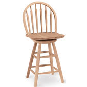 - 24'' Windsor Arrowback Stool, 17 1/2'' W x 18'' D x 40 1/2'' H