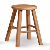 - 24'' Round Top Backless Stool, 12'' W x 12'' D x 24'' H
