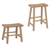 - 24'' Saddle Seat Backless Stool, 17 3/4'' W x 9'' D x 24'' H