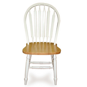 , Windsor 38'' High Arrowback Chair, White/ Natural Finish