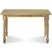 - Solid Wood Table, 48'' W x 30'' D x 29 1/2'' H, Natural