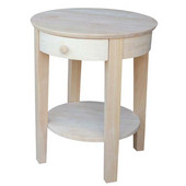 Philips End Table, 21'' W x 21'' D x 22'' H, Unfinished